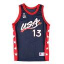 90年代 チャンピオン Champion USA BASKETBALL USAドリームチーム Shaquille O'Neal シャキールオニール ゲームシャツ…