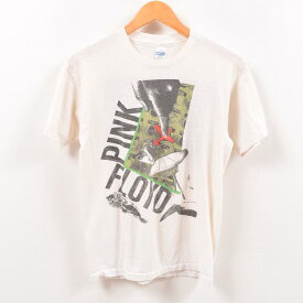 80年代 Healthknit PINK FLOYD ピンクフロイド WORLD TOUR バンドTシャツ USA製 メンズS ヴィンテージ /wbe0853 【中古】 【190524】