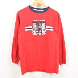 90年代 トミーヒルフィガー TOMMY HILFIGER ロングTシャツ ロンT USA製 メンズM ヴィンテージ /wbe0889 【中古】 【190524】【PD2001】【CS2003】【【SS2003】】