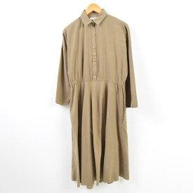 American Shirt Dress 長袖 シャツワンピース USA製 レディースM /wbf1916 【中古】 【190527】【PD191003-3】【TS2001】【ws2001】【【WS2001】】