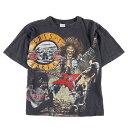 80年代 Guns N' Roses ガンズアンドローゼズ バンドTシャツ メンズL ヴィンテージ /wbe3962 【中古】 【190528】【SVTG】