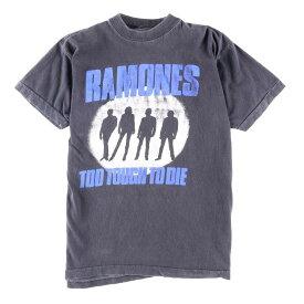 RAMONES ラモーンズ TOO TOUGH TO DIE バンドTシャツ メンズM ヴィンテージ /wbf3901 【中古】 【190530】【VTG】【SVTG】