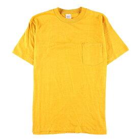 デッドストック未使用品 70年代 B.V.D 無地ポケットTシャツ USA製 メンズM ヴィンテージ /wbf3943 【中古】 【190923】