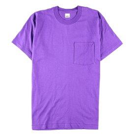 デッドストック未使用品 80年代 B.V.D 無地ポケットTシャツ USA製 メンズL ヴィンテージ /wbf3944 【中古】 【190923】
