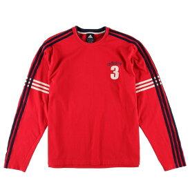 アディダス adidas ナンバリング ロングTシャツ ロンT メンズL /wbf3477 【中古】 【190603】【SS1909】