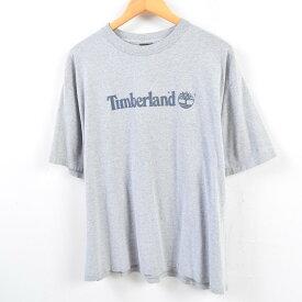90年代 ティンバーランド Timberland ロゴTシャツ USA製 メンズXL /wbe9892 【中古】 【190609】