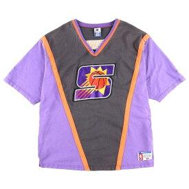 ビッグサイズ 90年代 チャンピオン Champion NBA PHOENIX SUNS フェニックスサンズ Vネック スポーツTシャツ USA製 メンズXXXL /wbe3058 【中古】 【190611】