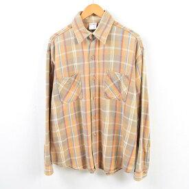 70年代 ジェイシーペニー J.C.Penney BIGMAC ビッグマック 長袖 ヘビーネルシャツ メンズL ヴィンテージ /wbe2838 【中古】 【190616】