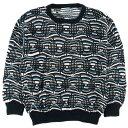90年代 クージー COOGI 総柄 コットンニットセーター オーストラリア製 メンズL /wbe2769 【中古】 【190624】