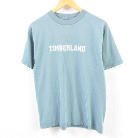 90年代 ティンバーランド Timberland WEATHERGEAR ロゴプリントTシャツ USA製 メンズM /wbe8511 【中古】 【190628】