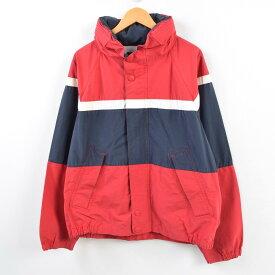 90年代 ノーティカ NAUTICA トリコロールカラー フード収納型 セーリングジャケット メンズXL /wbf5512 【中古】 【190707】