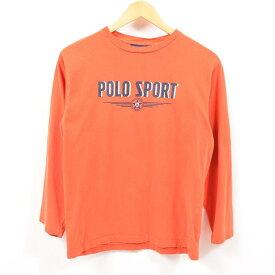 ラルフローレン Ralph Lauren POLO SPORT ポロスポーツ ロングTシャツ ロンT レディースM /wbe6163 【中古】 【190705】