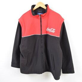 SPORTSMASTER COCA-COLA コカコーラ 袖取り外し可能 2WAY ソフトシェルジャケット メンズL /wbf5272 【中古】 【190708】