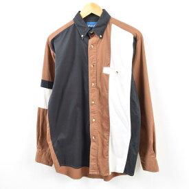 90年代 ラングラー Wrangler WESTERN SHIRTS クレイジーパターン 長袖 ボタンダウンシャツ メンズL /wbf4916 【中古】 【190708】