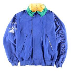 90年代 ノーティカ NAUTICA 袖ロゴ フード収納型 セーリングジャケット メンズL /wbf9818 【中古】 【190706】