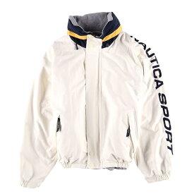 90年代 ノーティカ NAUTICA 袖ロゴ フード収納型 リバーシブル セーリングジャケット フリースジャケット メンズXL /wbf2411 【中古】 【190708】