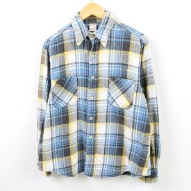 70年代 ジェイシーペニー J.C.Penney BIG MAC ビッグマック チェック柄 長袖 ヘビーネルシャツ メンズM ヴィンテージ /wbf4314 【中古】 【190711】