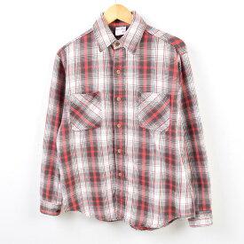 70年代 ジェイシーペニー J.C.Penney BIG MAC ビッグマック チェック柄 長袖 ヘビーネルシャツ USA製 メンズM ヴィンテージ /wbf4316 【中古】 【190711】