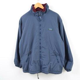 90年代 エルエルビーン L.L.Bean 山ロゴ カタディンロゴ Warm-up Jacket フリースライナー ナイロンジャケット メンズXL /wbg2943 【中古】 【190718】