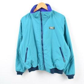 80〜90年代 エルエルビーン L.L.Bean 山ロゴ カタディンロゴ Warm-up Jacket フリースライナー ナイロンジャケット USA製 メンズL ヴィンテージ /wbg2958 【中古】 【190716】