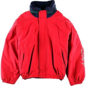 90年代 ノーティカ NAUTICA リバーシブル フード収納型 袖ロゴ セーリングジャケット フリースジャケット メンズXXL /wbg7809 【中古】 【190718】