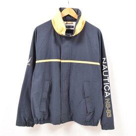 ノーティカ NAUTICA NS-83 袖ロゴ フード収納型 セーリングジャケット メンズL /wbf6833 【中古】 【190721】