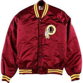 ネーム入り 90年代 Chaik Line NFL WASHINGTON RED SKINS ワシントンレッドスキンズ ナイロンスタジャン アワードジャケット メンズM /wbg7623 【中古】 【190722】