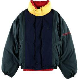 90年代 ノーティカ NAUTICA リバーシブル 袖ロゴ ダウンジャケット メンズXL /wbg7862 【中古】 【190722】