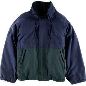 90年代 ノーティカ NAUTICA チェック柄 フード収納型 リバーシブル セーリングジャケット フリースジャケット メンズL /wbf9419 【中古】 【190805】