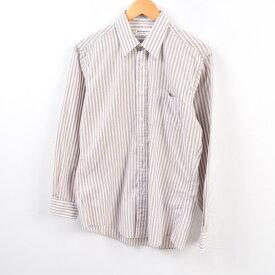 イヴサンローラン Yves Saint Laurent menswear 長袖 ストライプシャツ USA製 メンズM /wbg5088 【中古】 【190805】