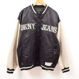 ダナキャランニューヨーク DKNY JEANS ナイロンスタジャン アワードジャケット メンズXXL /wbg0624 【中古】 【190804】