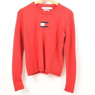 トミーヒルフィガー TOMMY HILFIGER JEANS cotton knit sweater Lady's L /wbg1115