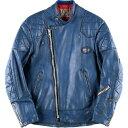 70年代 ルイスレザー Lewis Leathers SUPER MONZA スーパーモンザ ロンジャン セミダブルライダースジャケット 38 メンズM ヴィンテー…