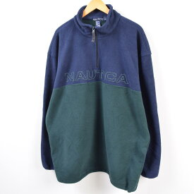 90年代 ノーティカ NAUTICA フリースプルオーバー USA製 メンズXL /wbg7053 【中古】 【190808】