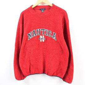 ノーティカ NAUTICA フリースプルオーバー USA製 メンズL /wbg7071 【中古】 【190808】