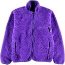 希少レアカラー 91年製 パタゴニア Patagonia エッグプラント ベビーレトロカーディガン 25511 フリースジャケット USA製 メンズL /wbf…