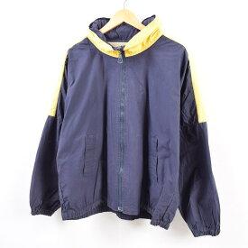 80〜90年代 ノーティカ NAUTICA バックプリント セーリングジャケット メンズL ヴィンテージ /wbg7172 【中古】 【190810】