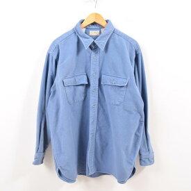 90年代 エルエルビーン L.L.Bean 長袖 シャモアクロスシャツ USA製 メンズXXL /wbg9585 【中古】 【190817】【PD190926-1】