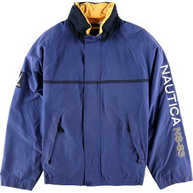ノーティカ NAUTICA NS-83 袖ロゴ フード収納型 セーリングジャケット メンズL /wbf8919 【中古】 【190819】