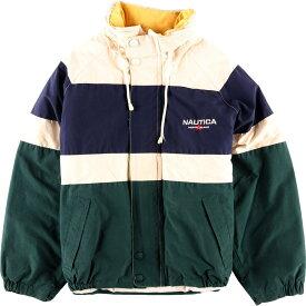 90年代 ノーティカ NAUTICA 中綿入り フード収納型 セーリングジャケット メンズM /wbf8923 【中古】 【190819】