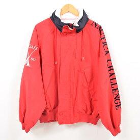 90年代 ノーティカ NAUTICA CHALLENGE J-CLASS 袖ロゴ セーリングジャケット メンズXL /wbg9291 【中古】 【190819】