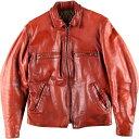 70年代 UNKNOWN レザースポーツジャケット メンズM ヴィンテージ /wbh7541 【中古】 【190909】