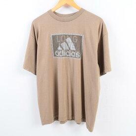 90年代 アディダス adidas ロゴTシャツ USA製 メンズL /wbh9729 【中古】 【190908】