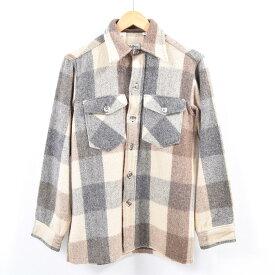 70〜80年代 エルエルビーン L.L.Bean チェック柄 ウールシャツ USA製 メンズS ヴィンテージ /wbh2671 【中古】 【190913】