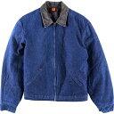 80年代 ビッグベン BIGBEN ブランケットライナー コーデュロイ襟 デニムワークジャケット メンズL ヴィンテージ /wbh7…