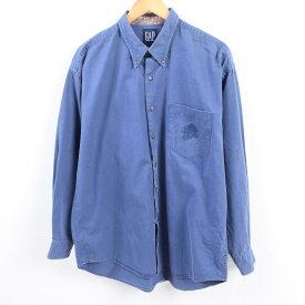 90年代 ギャップ GAP オールドギャップ 長袖 ボタンダウンシャツ メンズL /wbh8769 【中古】 【190916】