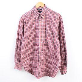 90年代 ノーティカ NAUTICA 長袖 ボタンダウンチェックシャツ メンズM /wbh8781 【中古】 【190916】