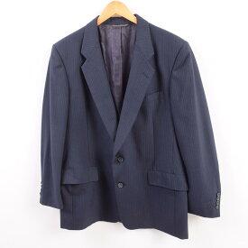クリスチャンディオール Christian Dior MONSIEUR ストライプ柄 ウールテーラードジャケット USA製 メンズM /wbh8854 【中古】 【190921】