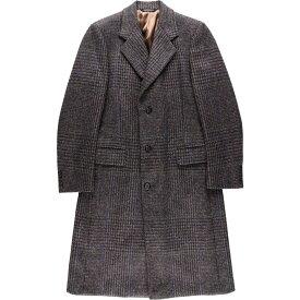 クリスチャンディオール Christian Dior MONSIEUR SPORT チェック柄 ツイード ウール チェスターコート USA製 メンズM /wbh7658 【中古】 【190922】