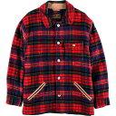 80~90年代 エディーバウアー Eddie Bauer タータンチェック ウールジャケット メンズXL ヴィンテージ /wbh6884 【中古】 【190928】
